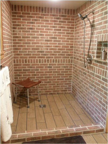 Merveilleux Bathrooms   Inglenook Brick Tiles   Brick Pavers | Thin Brick Tile | Brick  Floor Tile