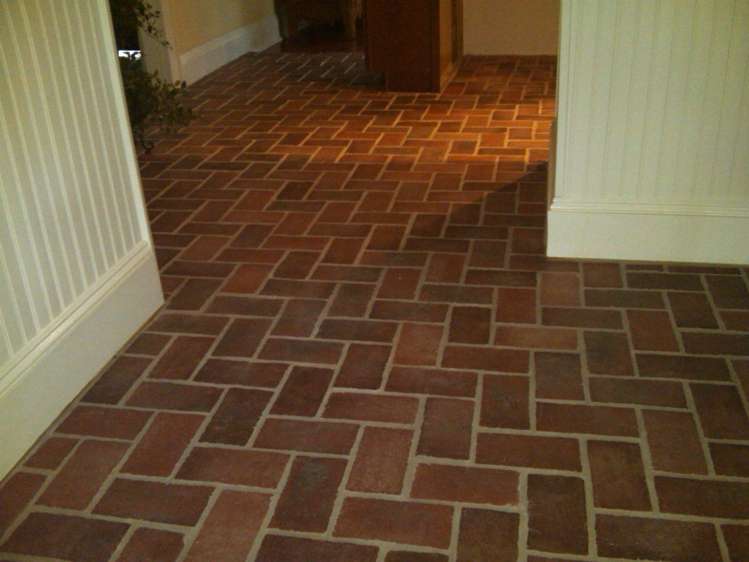 Brick Floor Tile 25 best ideas about brick tile floor on pinterest brick floor kitchen whitewash and entryway flooring Thank You To Dee Dee Ruth For These Pictures Of Her Elegant Home In Western Pennsylvania Our Brick Tile Floor Pairs So Well With The Woodwork On The Grand