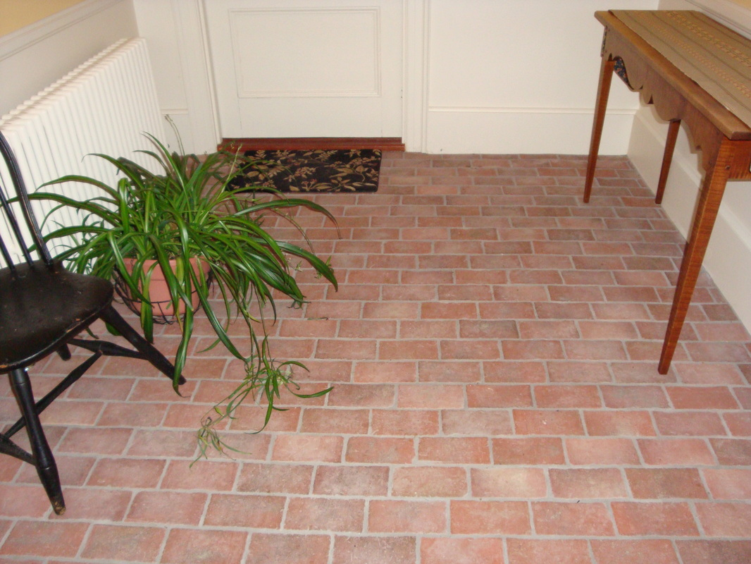 Brick Flooring In Kitchen Summer Kitchen Inglenook Brick Tiles Thin Brick Flooring