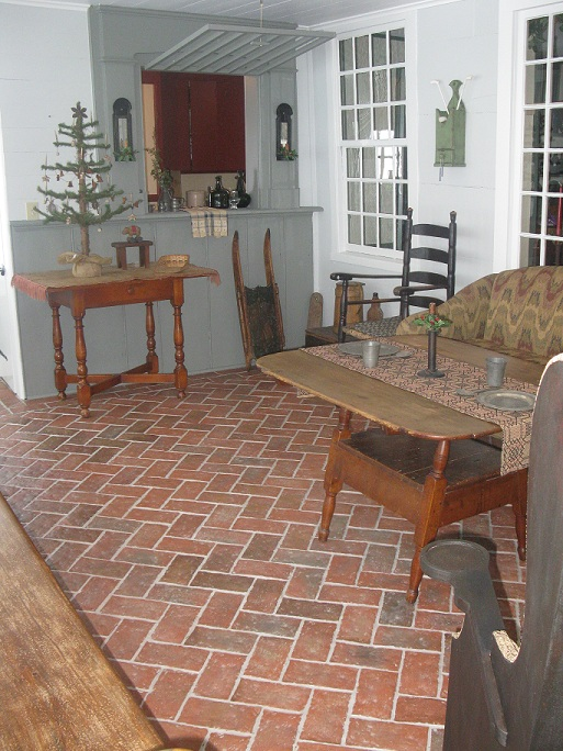 Brick Floor Tile brick looking tiles interestingcould be useful The Above Pictures Are Courtesy Of The Menzie Family They Used Our Tiles In A Four Season Sun Room Over A Radiant Heat Floor This Is Such A Beautiful Room