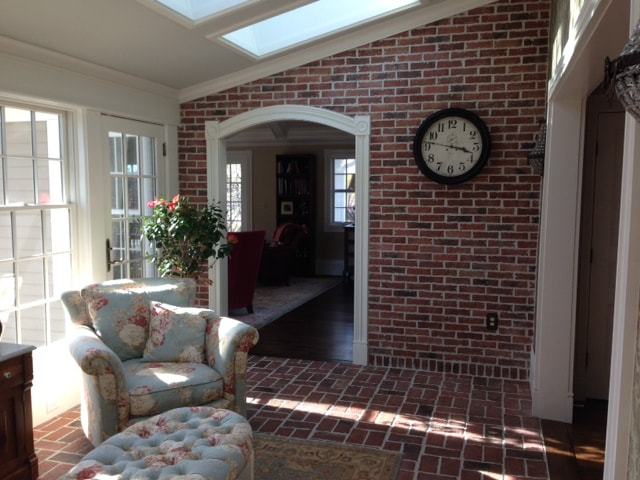 Brick sunroom wall Picture