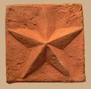 Star embossed on brick