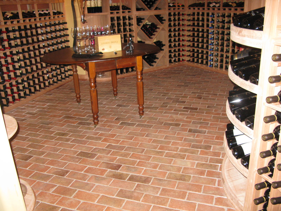 Wine cellars inglenook brick tiles brick pavers thin for Wine cellar in floor
