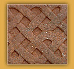 Brick flooring with Gaelic knot