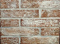 Picture whitewashed thin brick tile
