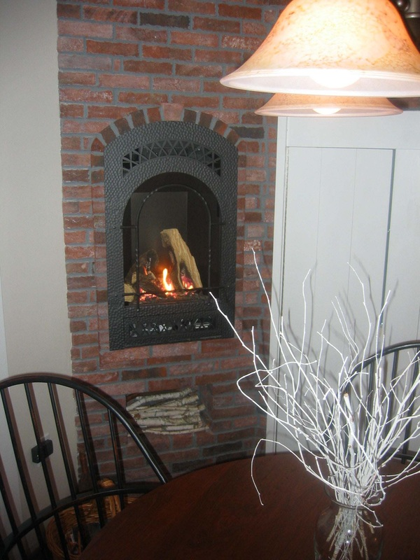 White Fireplace Tile