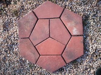 Hexagon brick pattern