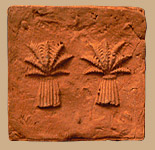 palm trees on brick tile
