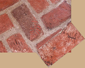 Impression on brick