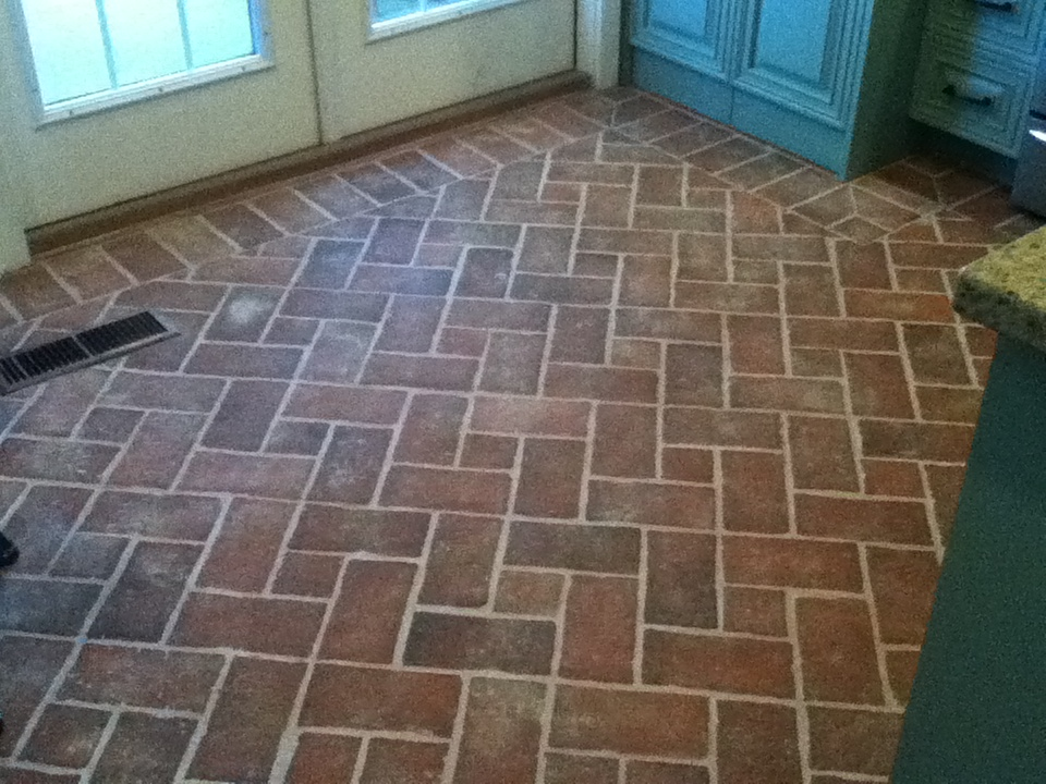 Entryways and hallways - Inglenook Brick Tiles - Brick Pavers | Thin ...