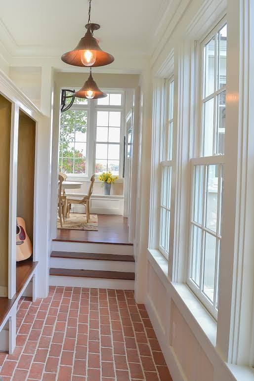Picture contemporary thin brick tile hallway